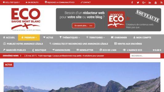 ECO Savoie Mont Blanc : refonte totale du site internet