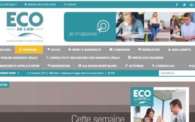 ECO de l'Ain : un nouveau site web… dans une logique de groupe
