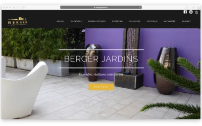 BERGER JARDINS : modifications sur le site internet existant