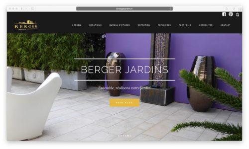 BERGER JARDINS : modifications sur le site internet existant