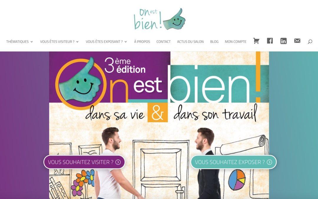 Salon «On est bien !» : refonte site + blog + e-commerce = nouvelle stratégie digitale !