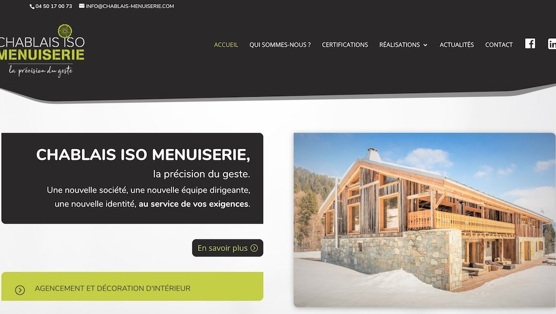 CHABLAIS ISO MENUISERIE : refonte du logo et refonte du site web